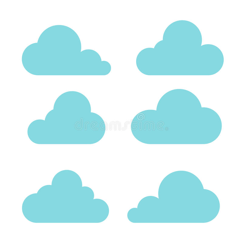Иллюстрация вектора собрания облаков стоковые фотографии rf