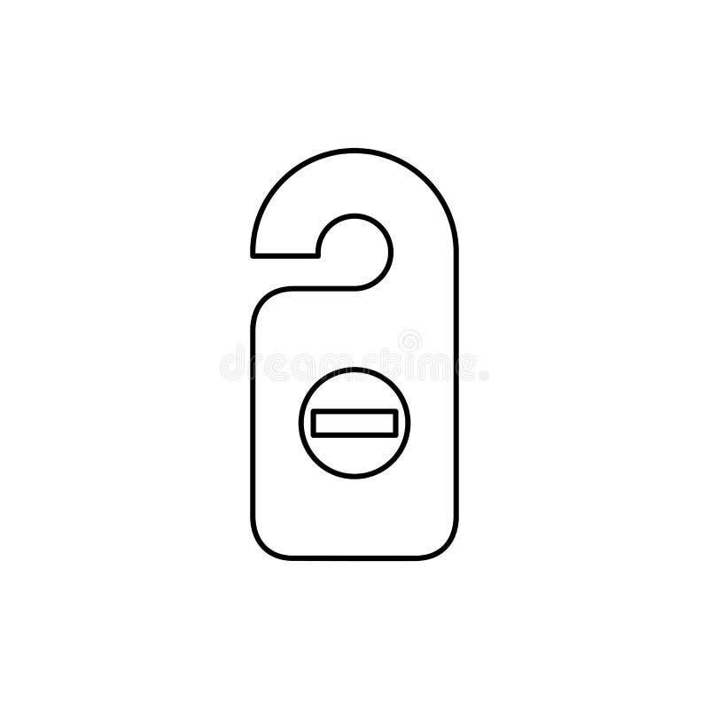 Иллюстрация вектора стиля значка бирки комнаты простая плоская Бирка двери, d иллюстрация штока
