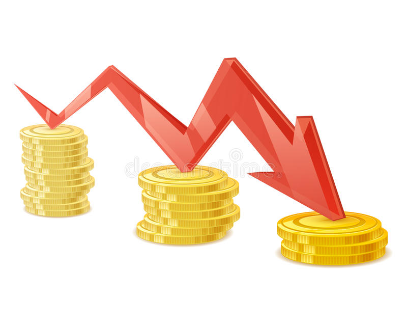 Иллюстрация вектора стога монеток Золотые наличные деньги денег бесплатная иллюстрация