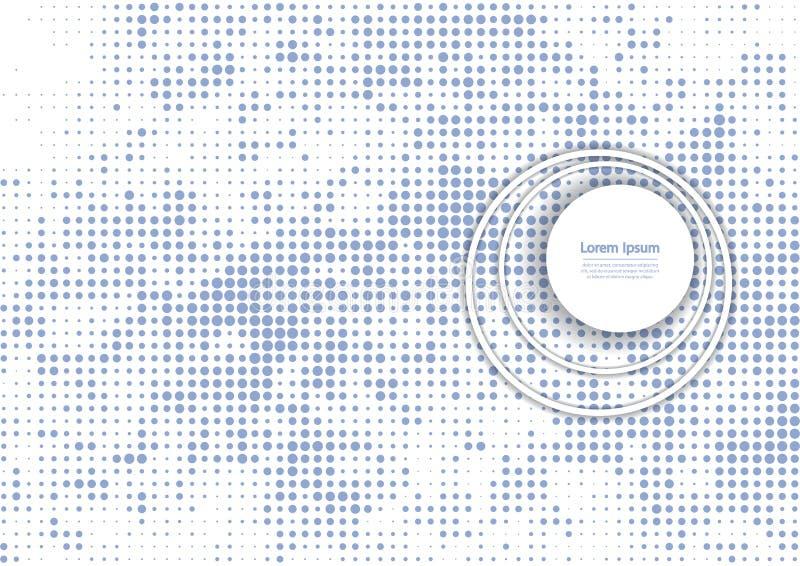 Иллюстрация вектора с картиной полутонового изображения Предпосылка вектора bstract  Ð голубая иллюстрация штока