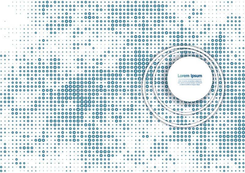 Иллюстрация вектора с картиной полутонового изображения Предпосылка вектора bstract  Ð голубая иллюстрация вектора