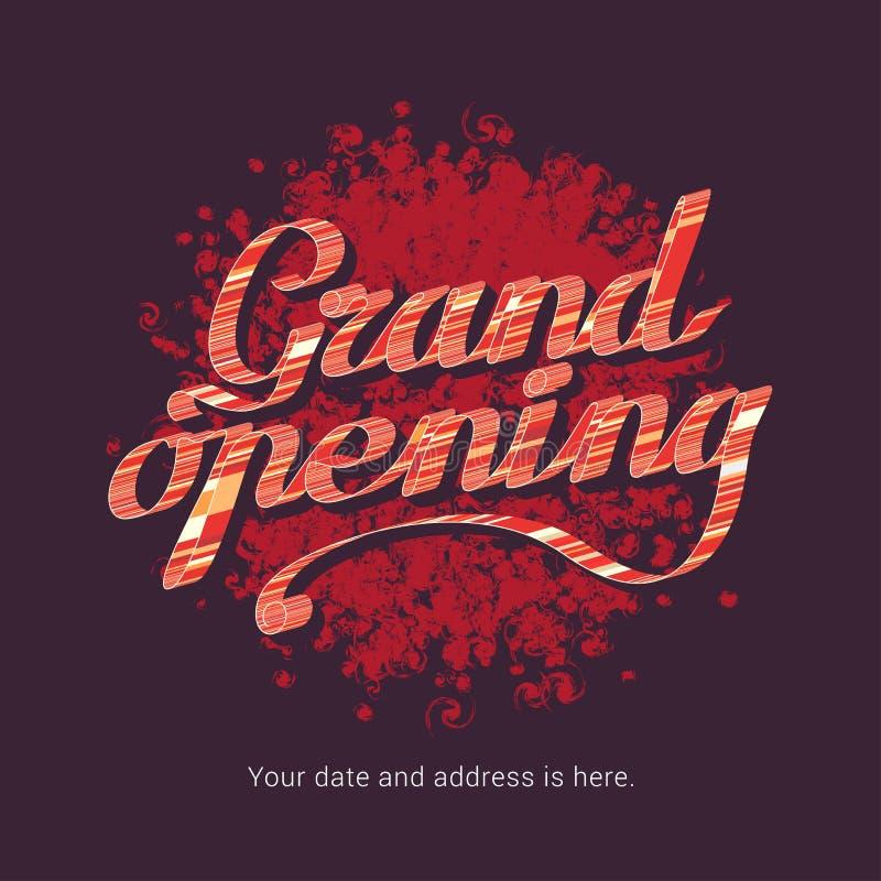 Иллюстрация вектора торжественного открытия, предпосылка для магазина, клуба бесплатная иллюстрация
