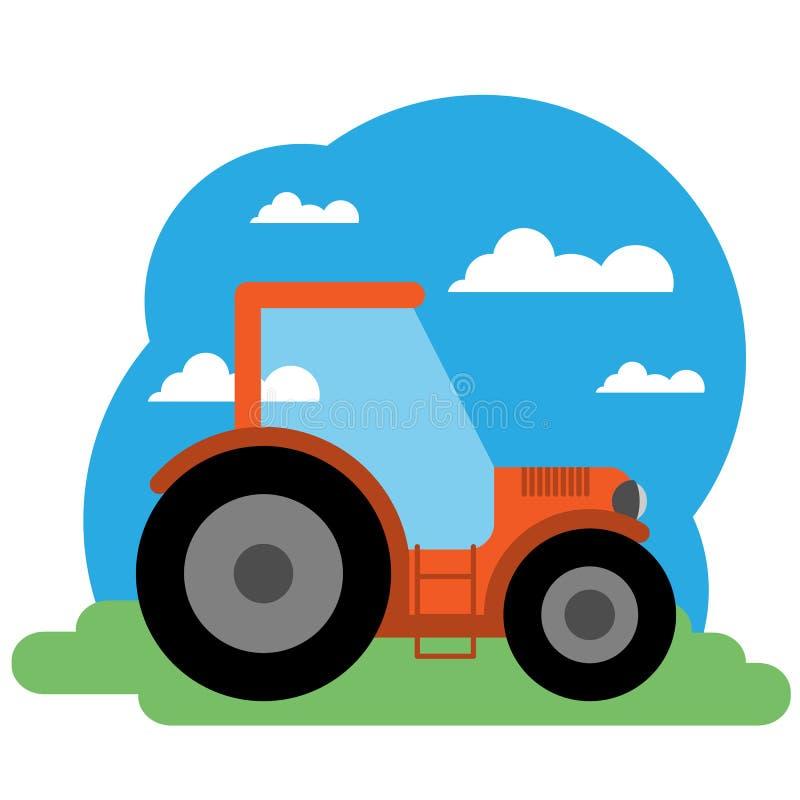 Иллюстрация вектора трактора бесплатная иллюстрация