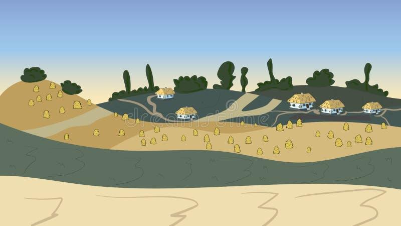 Иллюстрация вектора украинского изображения хаты иллюстрация штока