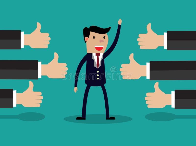 Иллюстрация вектора успешного бизнесмена бесплатная иллюстрация