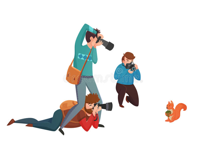 Иллюстрация вектора фотографа природы бесплатная иллюстрация