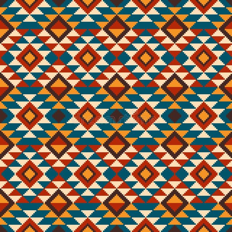 Иллюстрация вектора фольклорного безшовного орнамента картины этнический орнамент бесплатная иллюстрация