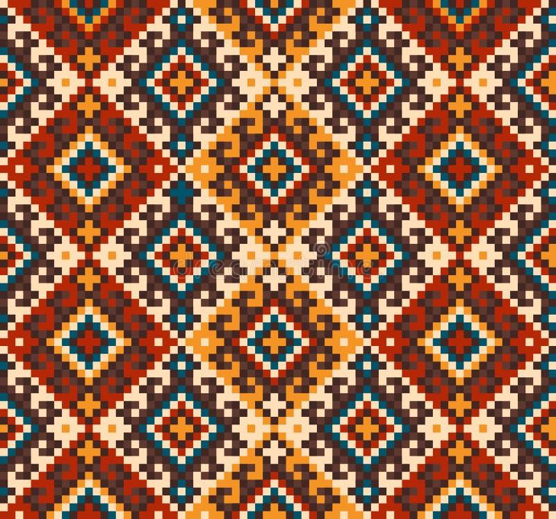 Иллюстрация вектора фольклорного безшовного орнамента картины этнический орнамент иллюстрация штока