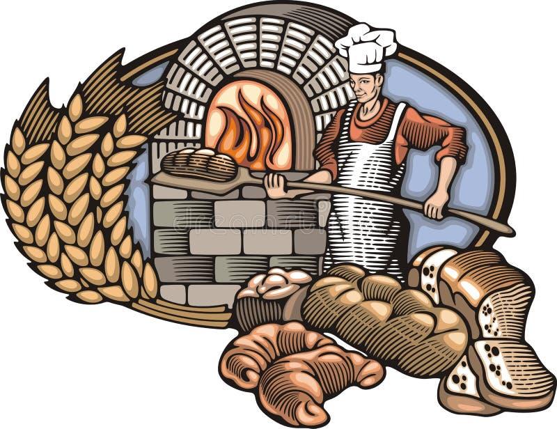 Download Иллюстрация вектора хлебопека в стиле Woodcut Иллюстрация вектора - изображение: 51375376