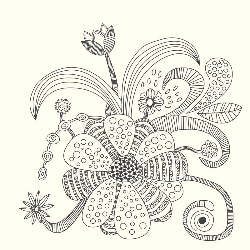 Иллюстрация вектора цветка стоковые изображения rf