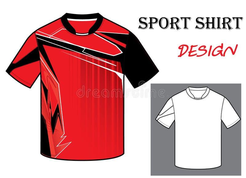 Иллюстрация вектора шаблона футболки футбола стоковое изображение