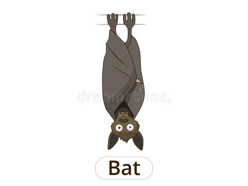 Иллюстрация вектора шаржа летучей мыши леса животная бесплатная иллюстрация