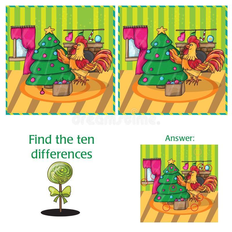 Иллюстрация вектора шаржа находить разницы для детей дошкольного возраста бесплатная иллюстрация
