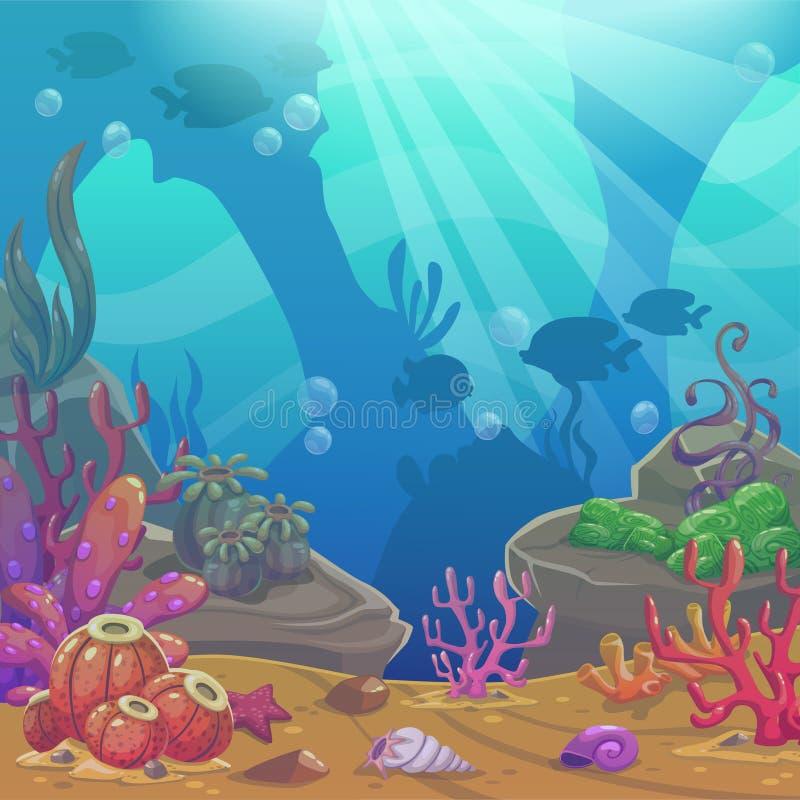 Иллюстрация вектора шаржа подводная иллюстрация штока