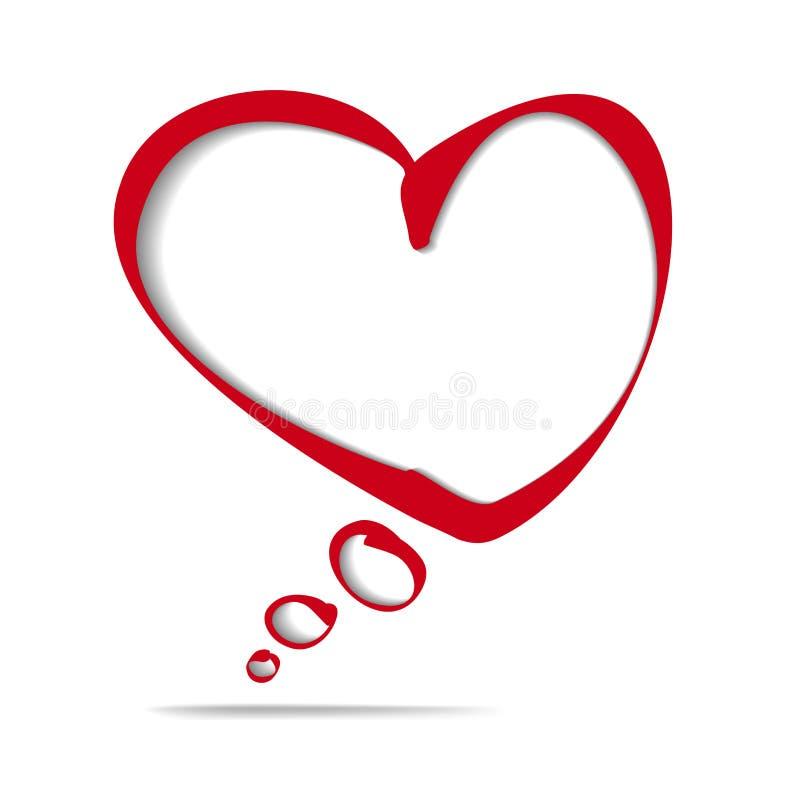 иллюстрация вектора шаржа пузыря рамки сердца иллюстрация штока