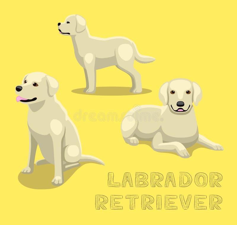 Иллюстрация вектора шаржа Retriever Лабрадора собаки иллюстрация вектора