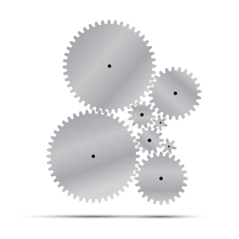 Иллюстрация вектора шестерни и cogwheel стоковое фото rf