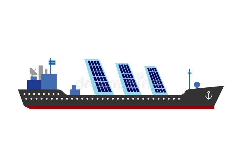 Иллюстрация вектора энергии солнца корабля иллюстрация штока