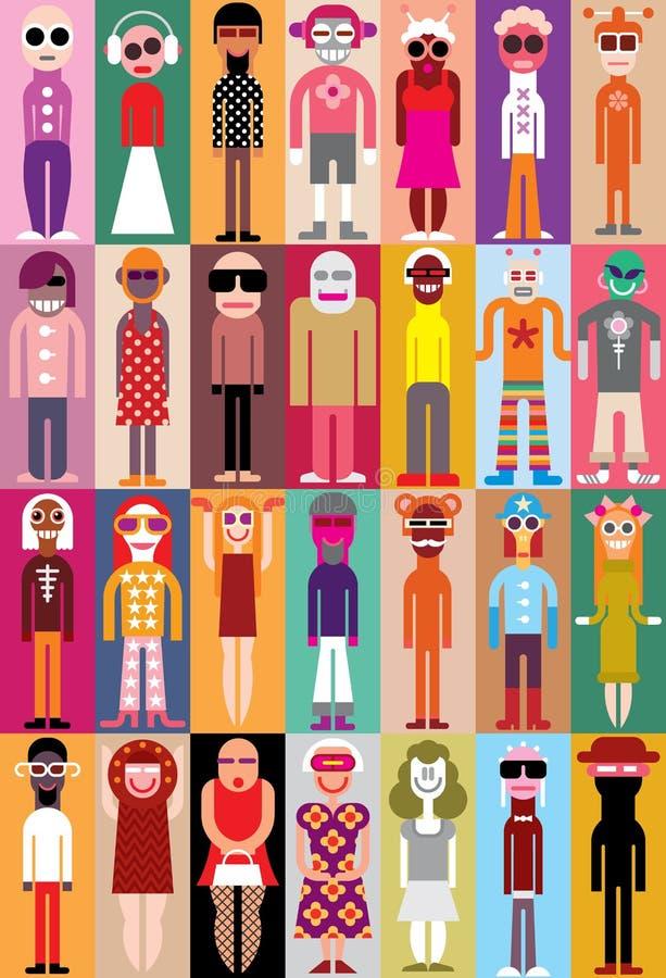 Иллюстрация вектора людей иллюстрация штока