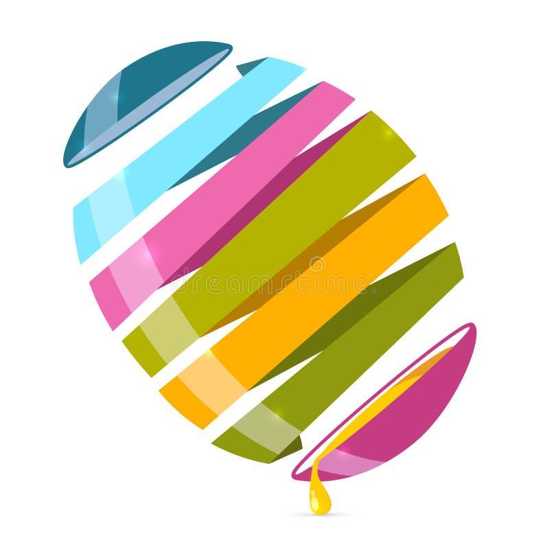 иллюстрация вектора яичка конспекта 3d иллюстрация штока