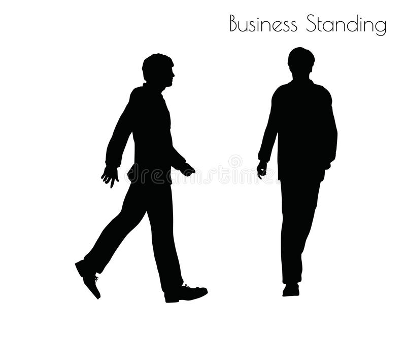 Иллюстрация вектора EPS 10 человека в представлении деловой репутации на белую предпосылку иллюстрация вектора