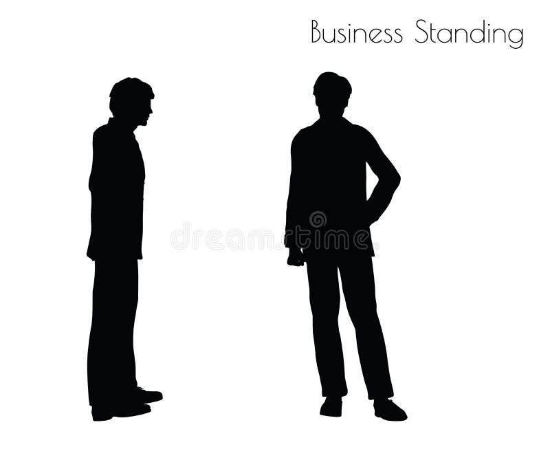Иллюстрация вектора EPS 10 человека в представлении деловой репутации на белую предпосылку иллюстрация штока