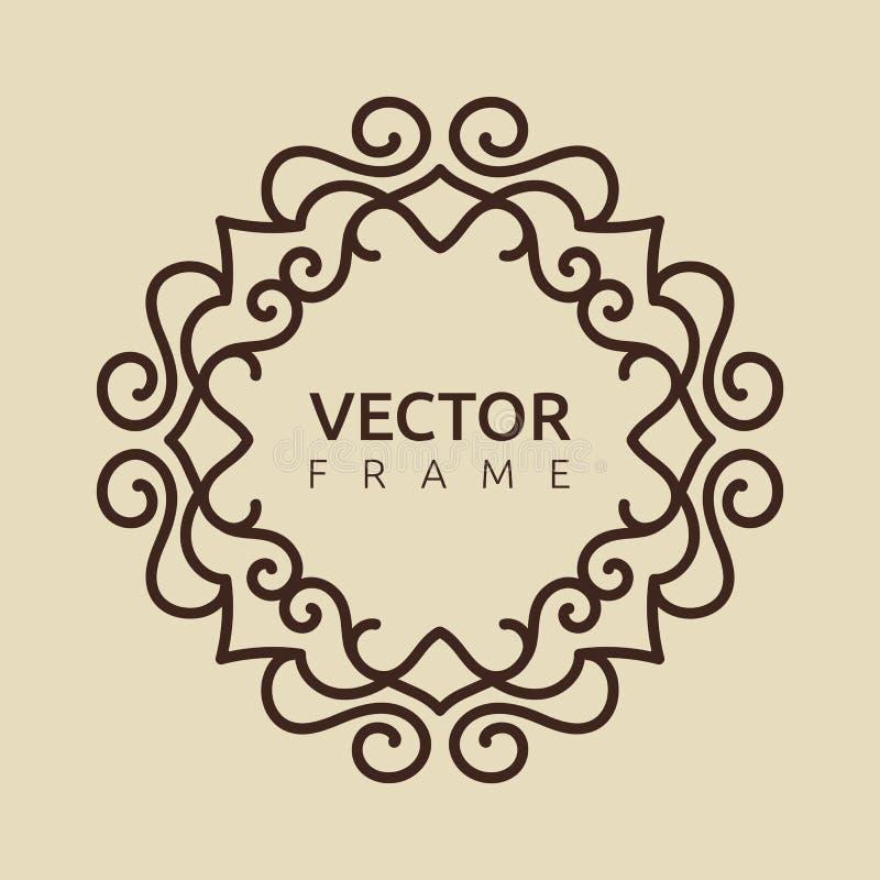 Иллюстрация вензеля вектора иллюстрация вектора