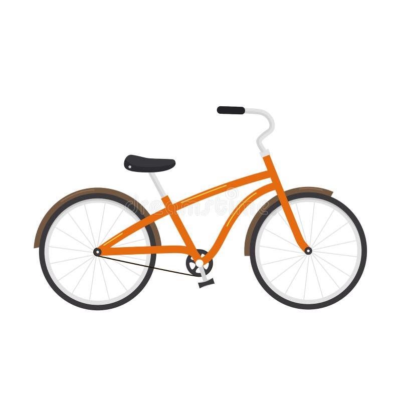 Иллюстрация велосипеда на белой предпосылке иллюстрация штока