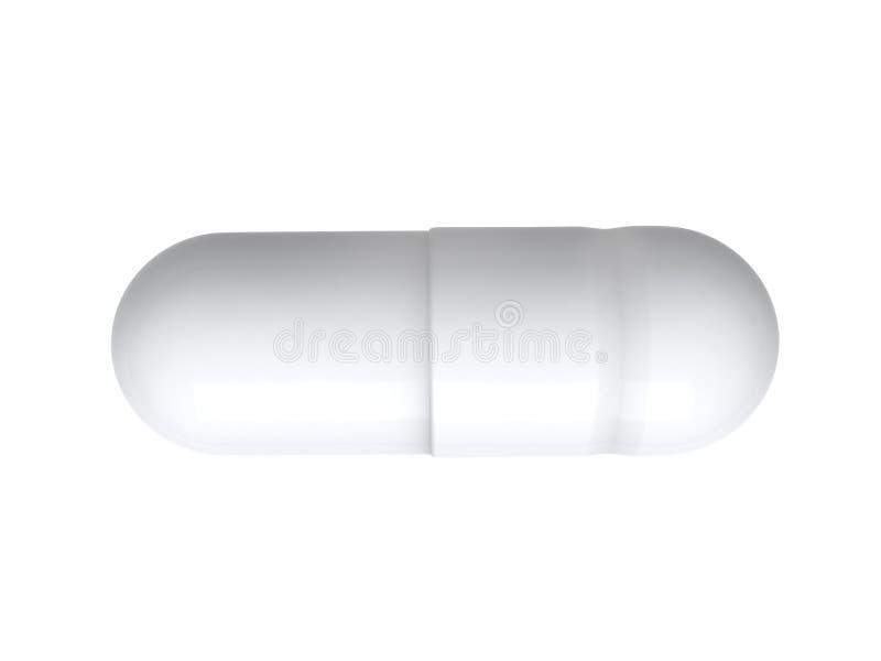 Иллюстрация витамина 3D пилюльки стоковое изображение rf