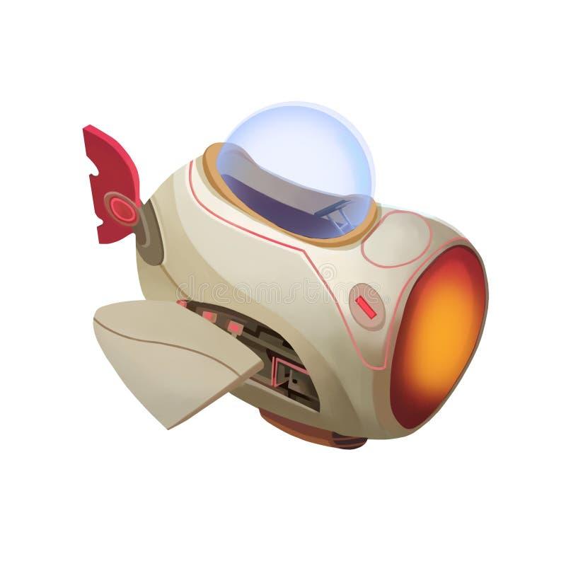 Иллюстрация: Воздушные судн ребенк без света иллюстрация вектора