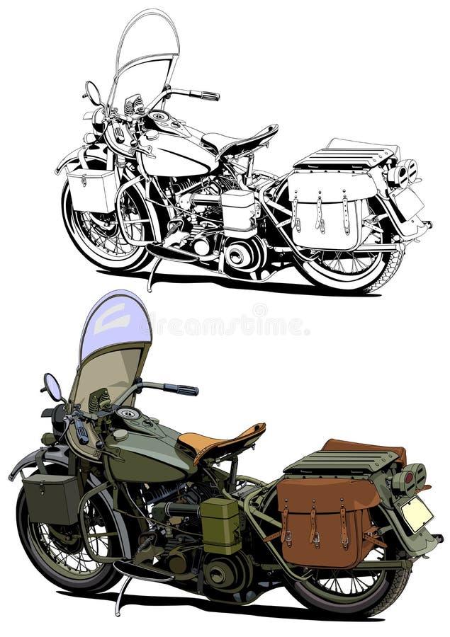 Иллюстрация года сбора винограда мотоцикла иллюстрация штока