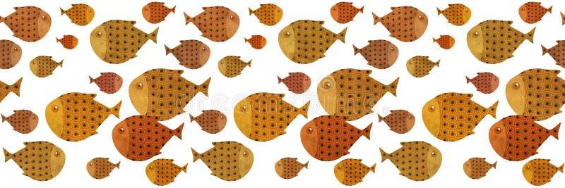 иллюстрация границы рыб заплывания иллюстрация штока