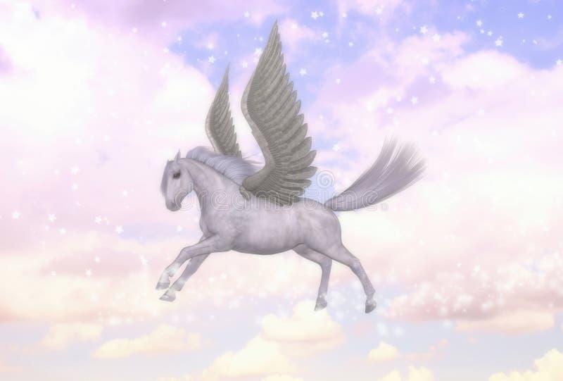 Иллюстрация греческой мифологии жеребца лошади летания Пегаса бесплатная иллюстрация