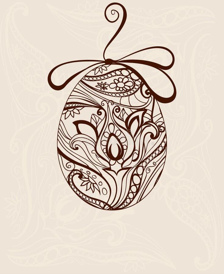 Орнаментальное яичко стоковое изображение