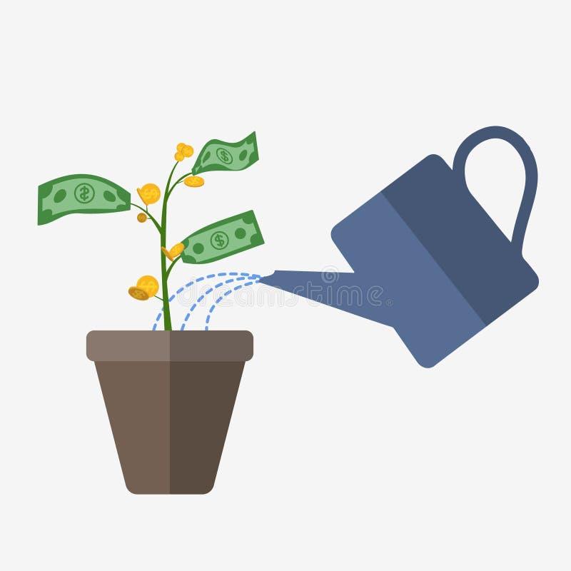 Иллюстрация дерева денег иллюстрация вектора