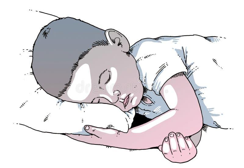 Иллюстрация 2 детей стоковое фото