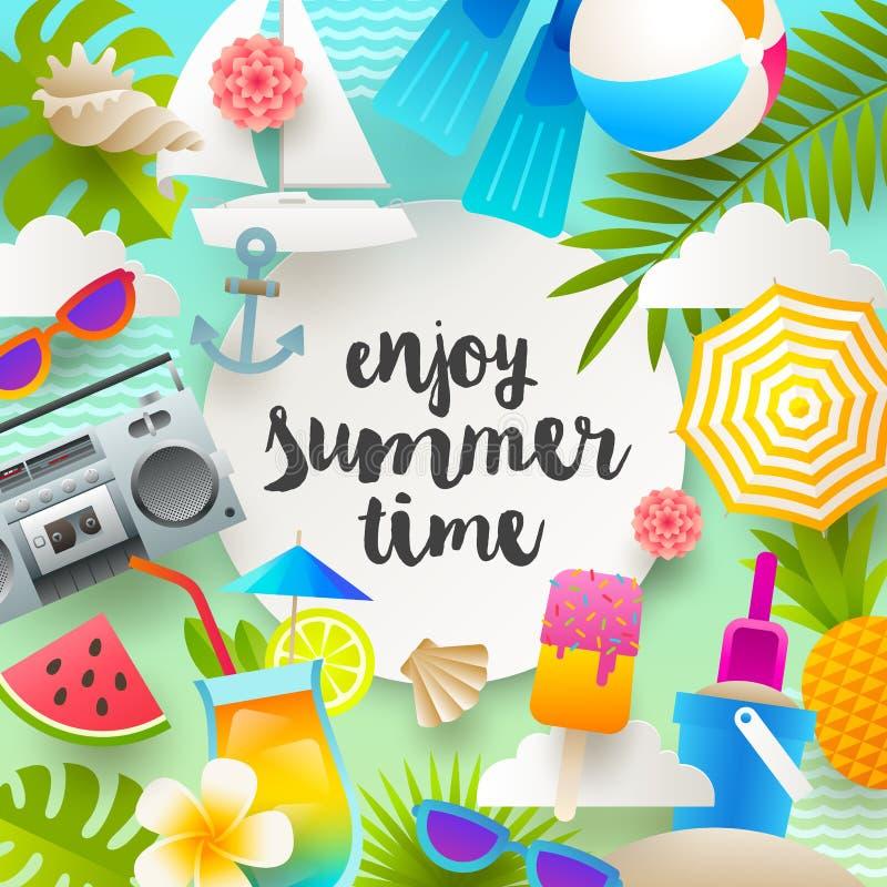 Иллюстрация летних каникулов иллюстрация штока