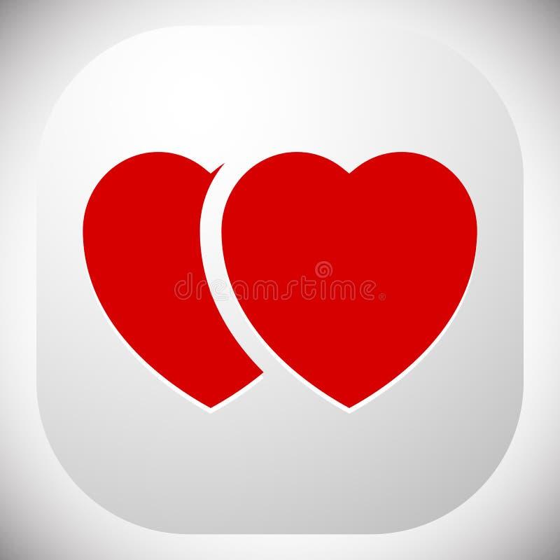 Download Иллюстрация запаса с мотивом сердца, формой сердца Иллюстрация вектора - иллюстрации насчитывающей изолировано, график: 81801865