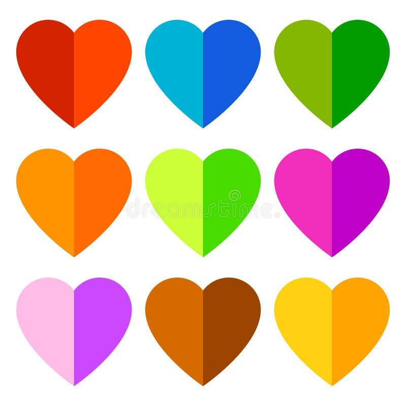 Download Иллюстрация запаса с мотивом сердца, формой сердца Иллюстрация вектора - иллюстрации насчитывающей график, royalty: 81801946