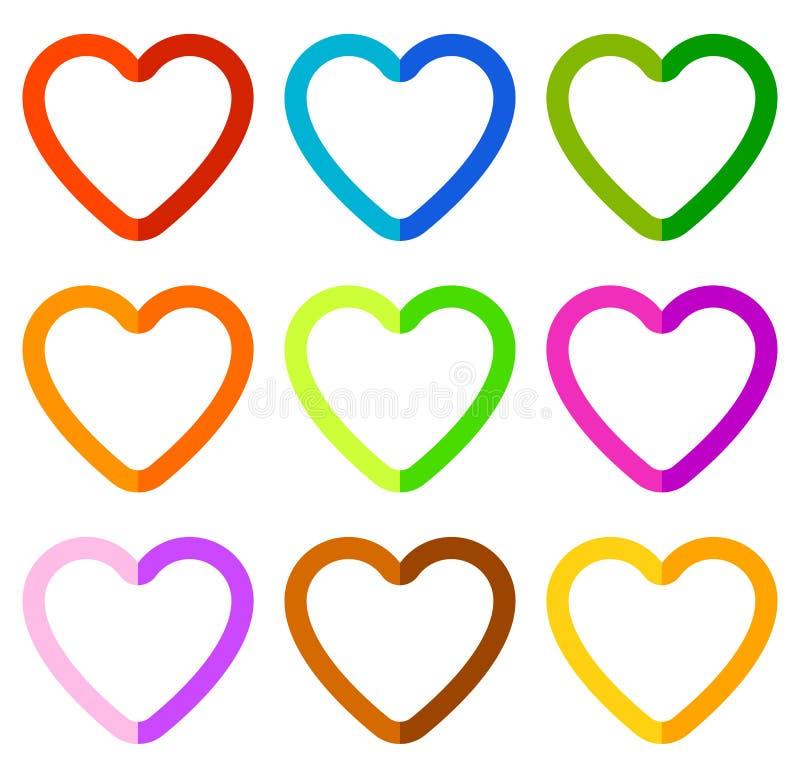 Download Иллюстрация запаса с мотивом сердца, формой сердца Иллюстрация вектора - иллюстрации насчитывающей романтично, concept: 81801983