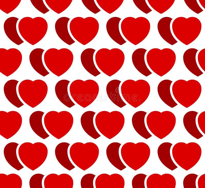 Download Иллюстрация запаса с мотивом сердца, формой сердца Иллюстрация вектора - иллюстрации насчитывающей повторять, мотив: 81801997