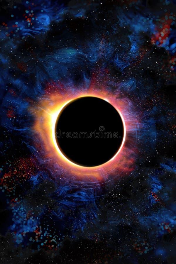 иллюстрация затмения конструкции черноты предпосылки солнечная иллюстрация вектора