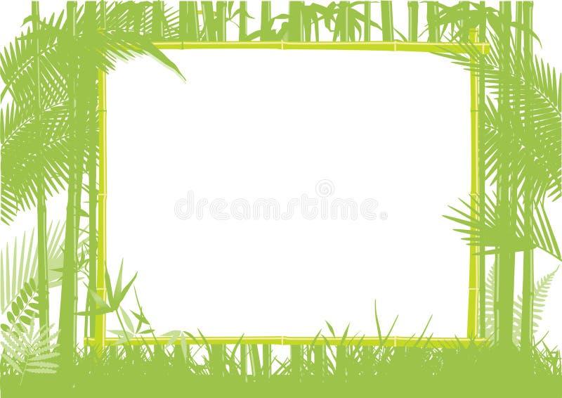 Bamboo рамка джунглей бесплатная иллюстрация