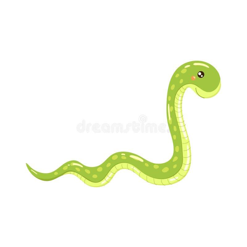 Иллюстрация змейки горжетки реалистическая ребяческая иллюстрация штока