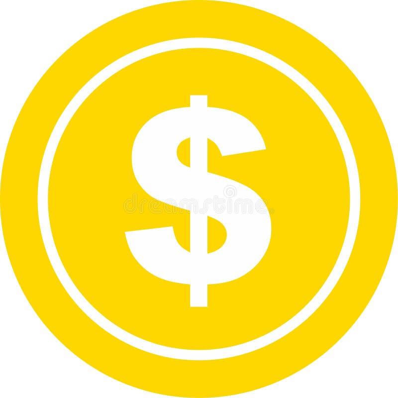 Иллюстрация значка доллара монетки стоковые фото