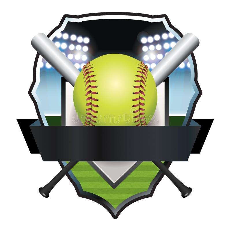 Иллюстрация значка эмблемы софтбола бесплатная иллюстрация