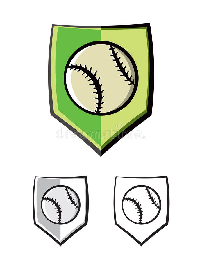 Иллюстрация значков эмблемы экрана бейсбола иллюстрация вектора