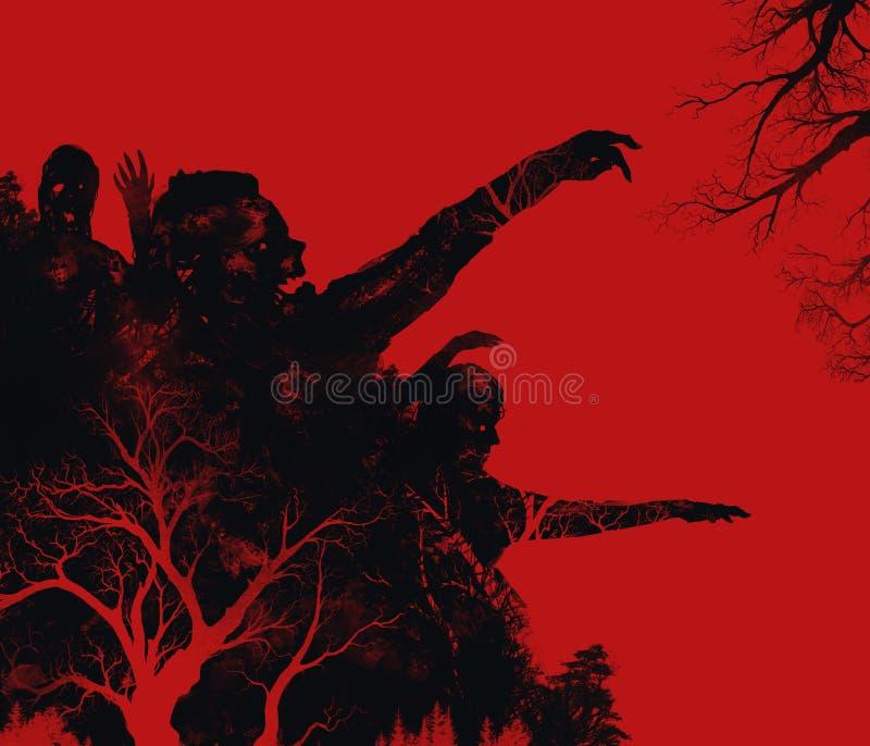 Иллюстрация зомби бесплатная иллюстрация