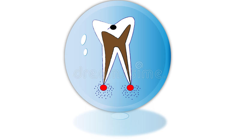 Иллюстрация зуба стоковая фотография
