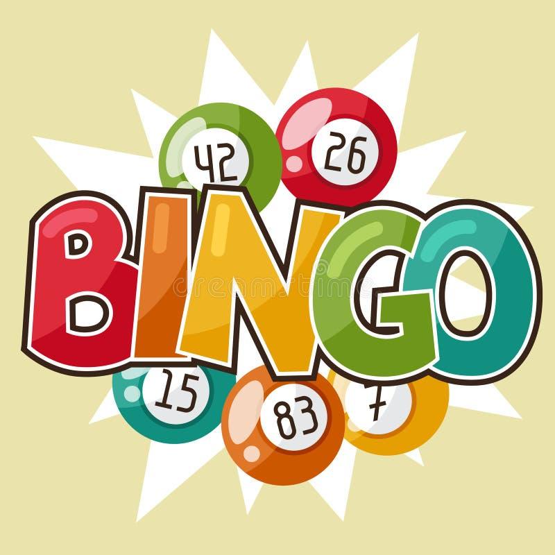 Иллюстрация игры Bingo или лотереи ретро иллюстрация штока